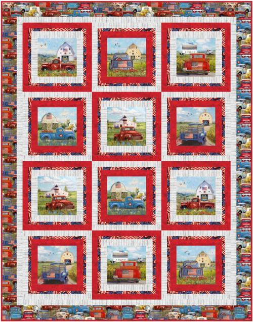 Panel Bounce by Pine Tree Country Quilts