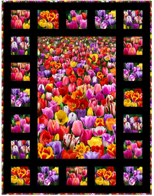 Digital Garden Tulips by Deborah Stanley