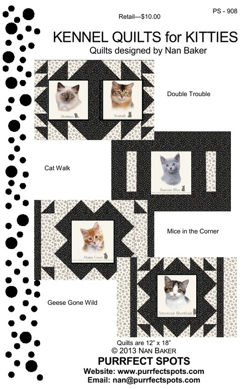 Kennel Quilts For Kitties by Nan Baker