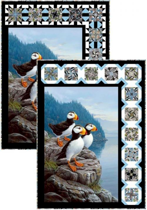 Quick-Twist Revolution Puffins by Pine Tree Country Quilts