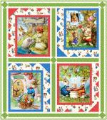 Bunny Love - Wallhanging by Pine Tree Country Quilts
