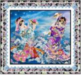 Gracefully Framed - Wall by Pine Tree Country Quilts