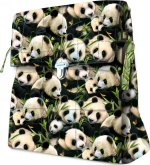 Pandas Messenger Bag by Deborah Stanley