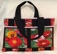 Poppies For Bag by Deborah Stanley
