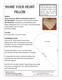 Share Your Heart Pillow by Deborah Stanley