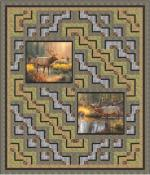 Wildlife Trails - Throw by Pine Tree Country Quilts