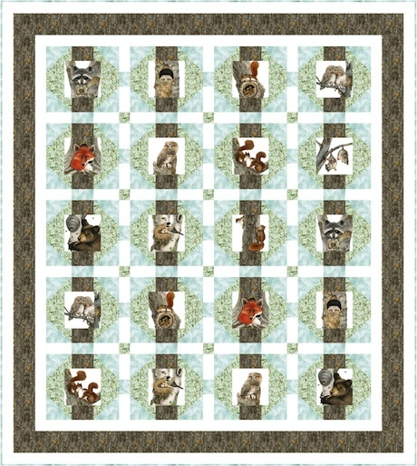 Tree Houses by Pine Tree Country Quilts